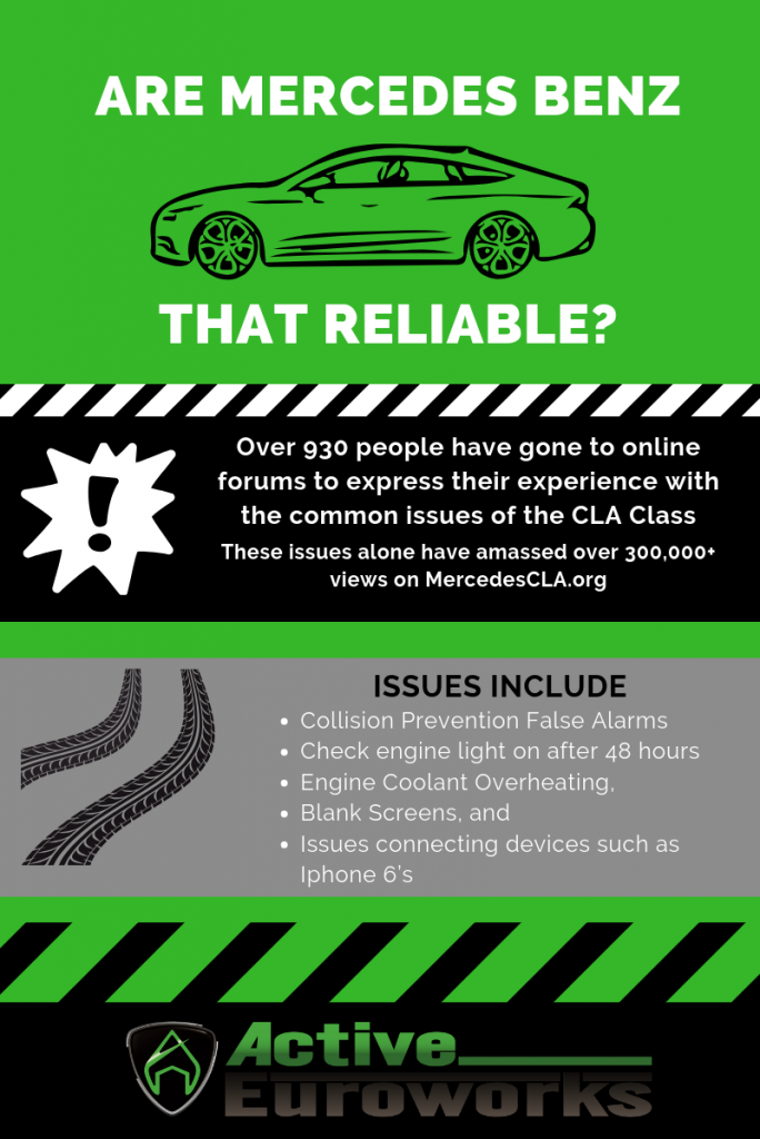 Mercedes Benz reliability Infographic